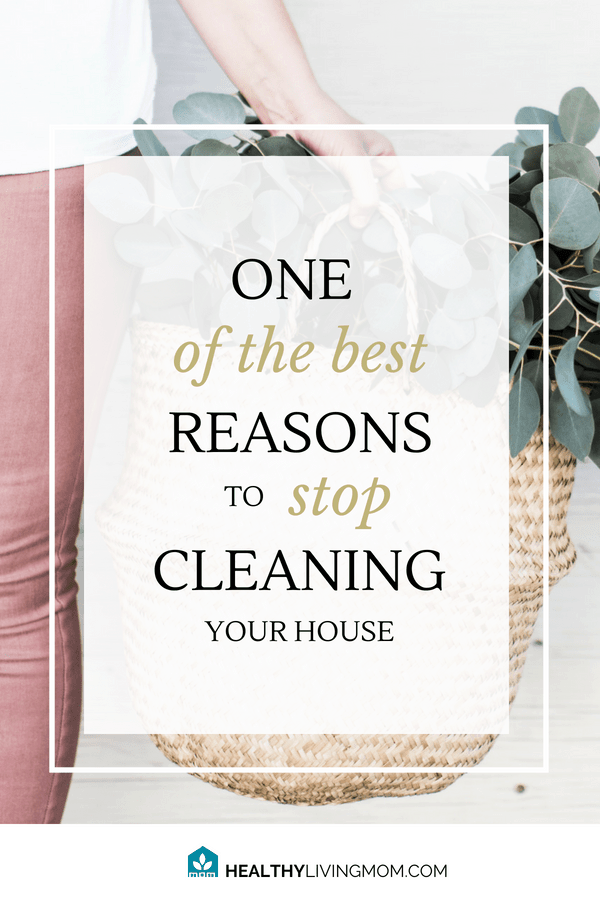 The single best reason to stop cleaning your house.